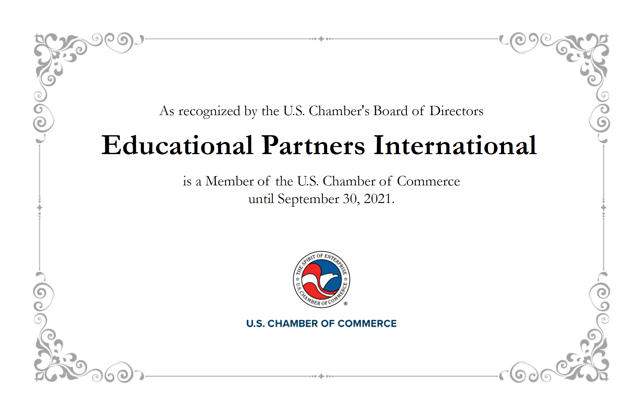 EPI is a member of the U.S. Chamber of Commerce